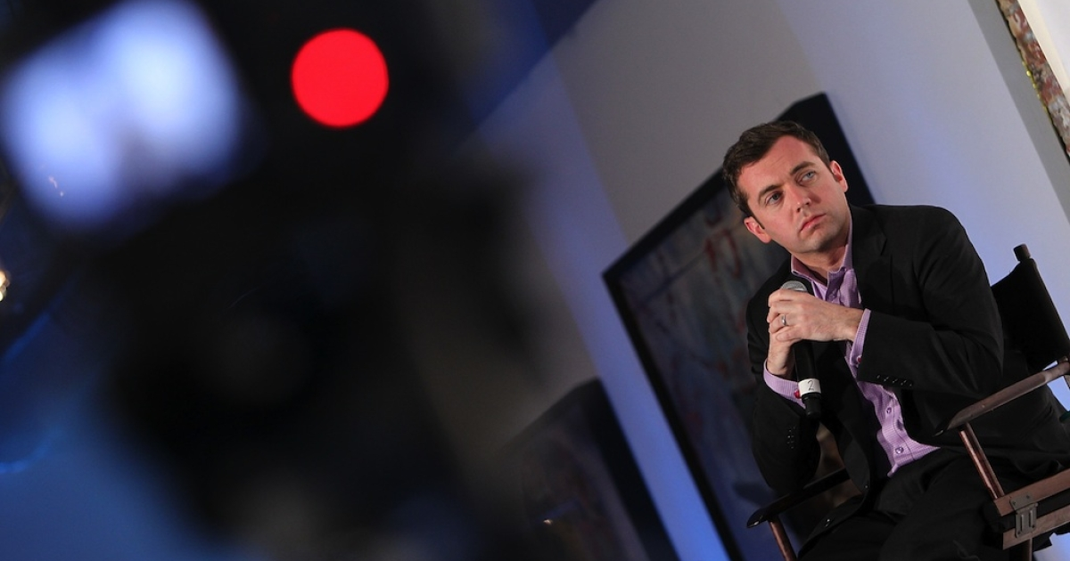 Journalist Michael Hastings participates in the Guardian's 'Post-Truth Politics &amp; The Media's Role' dicussion at The LongView Gallery on May 1, 2012 in Washington, DC.</p>