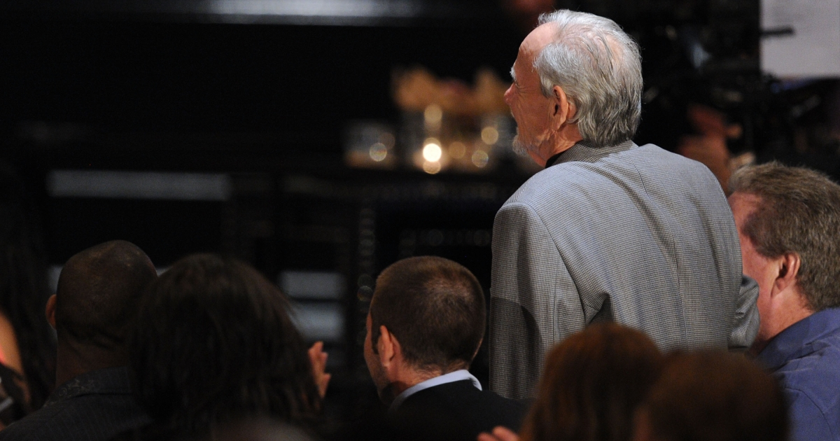 Former American Mobster Henry Hill, who's life story inspired the film Goodfellas, appears in the audience during Spike TV's 4th Annual 'Guys Choice Awards' held at Sony Studios on June 5, 2010 in Los Angeles, California.</p>
