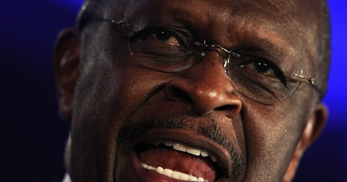 Former Godfather's Pizza CEO and Republican candidate for president Herman Cain said that U.S. communities should be able to prevent the construction of mosques in their neighborhoods.</p>