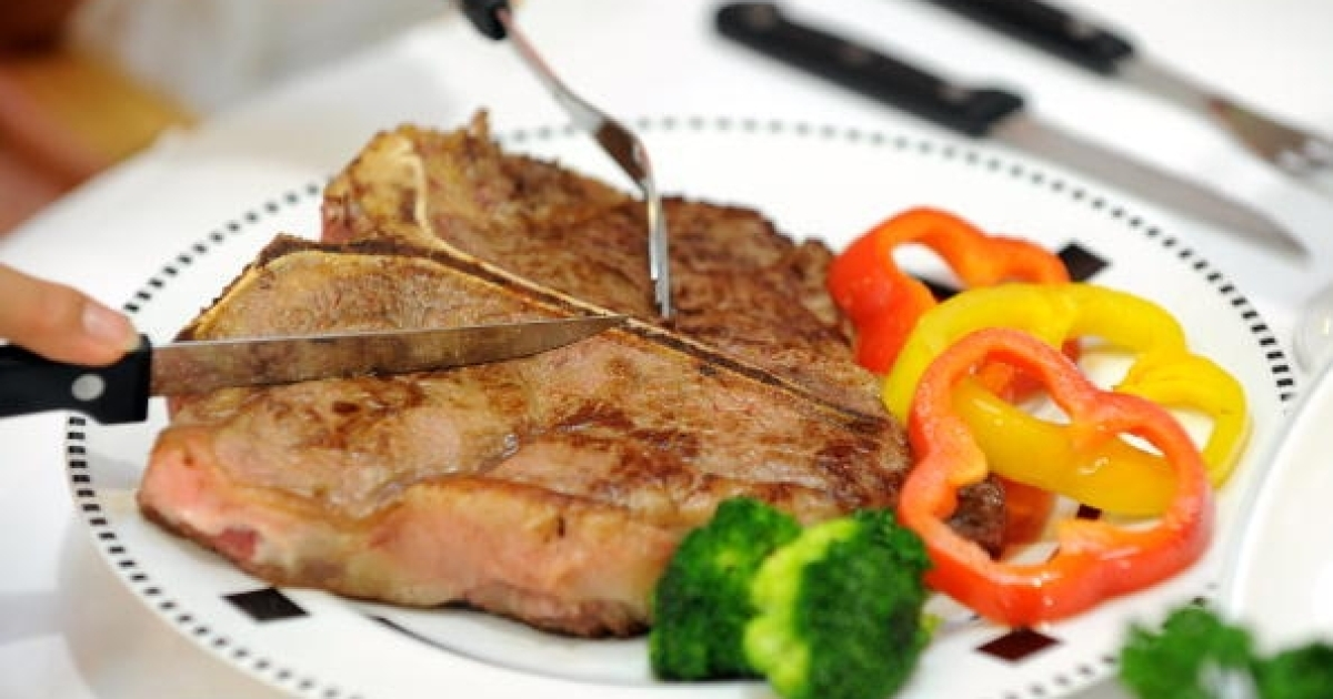 T-bone steak, on the other hand, is totally heterosexual meat.</p>