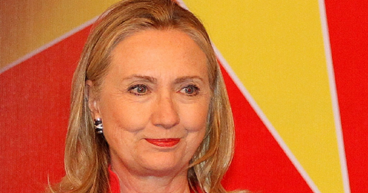 US Secretary of State Hillary Clinton pictured in Hanoi, Vietnam on July 10, 2012, a day before flying to Laos.</p>