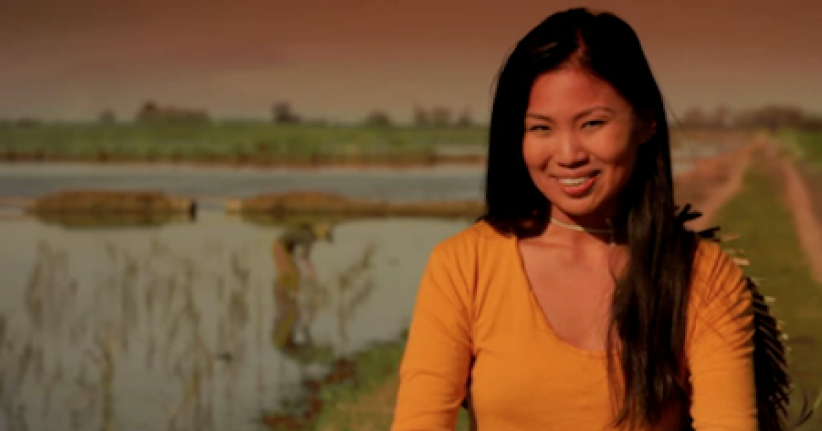 The actress in U.S. Senate hopeful Pete Hoekstra's controversial ad: an Asian-American depicting a Chinese woman pleased with America's debt to China.</p>