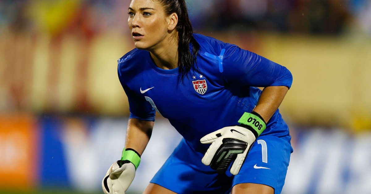 Goalie Hope Solo and the United States play Germany on October 23, 2012, at Rentschler Field in East Hartford, Connecticut.</p>