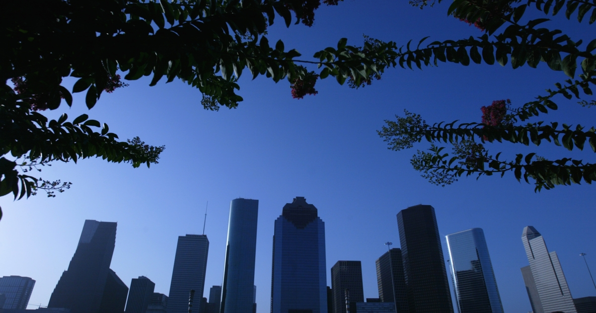 Houston, whose skyline is pictured here, is America's fourth-largest city.</p>