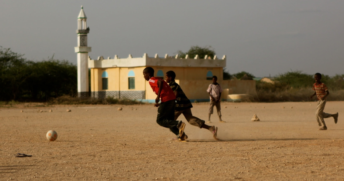 Late afternoon football matches were quick to restart in Hudur, Somalia, after Al Shabaab Islamist militants left town, allowing a return to normal life.</p>
