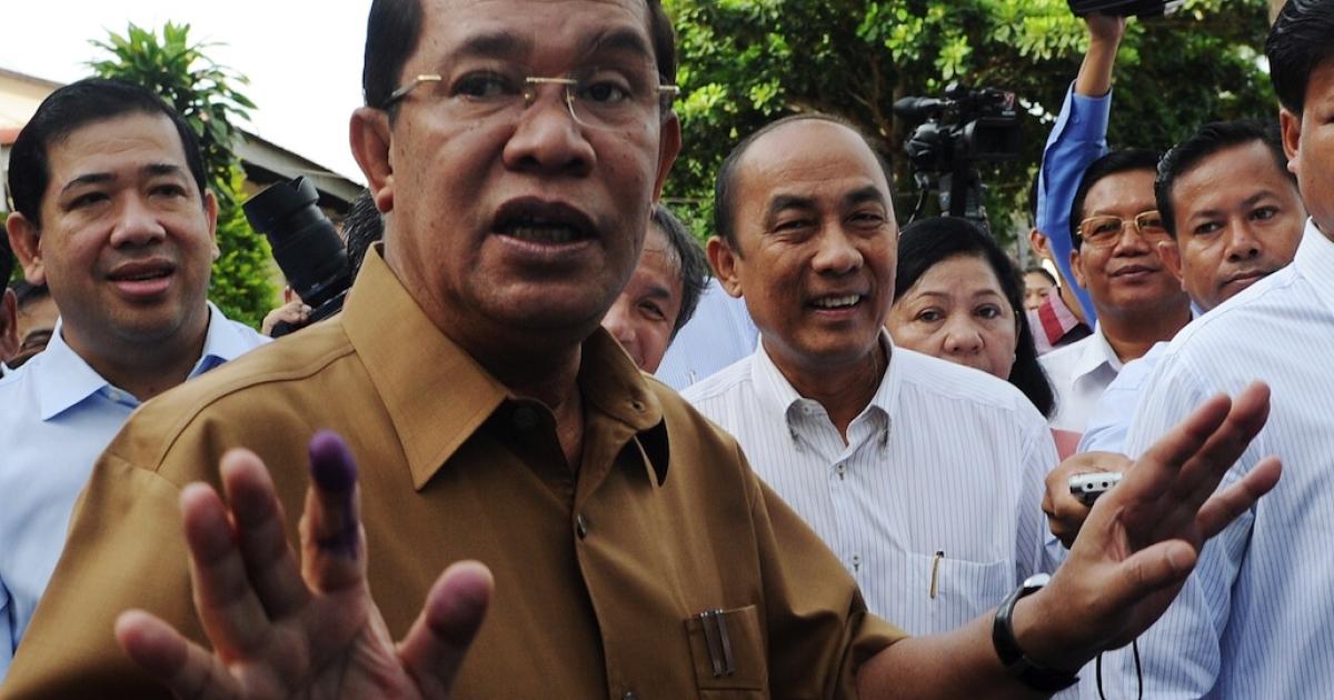 Hun Sen, Cambodia's prime minister, in 2012.</p>