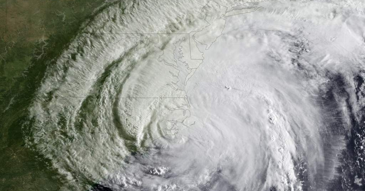 In this handout from NOAA, Hurricane Irene is seen on the coast of North Carolina August 27, 2011 in the Atlantic Ocean. Irene, now a Category 1 storm with sustained winds of 85 miles per hour, is making its was up the eastern coast of the U.S.</p>