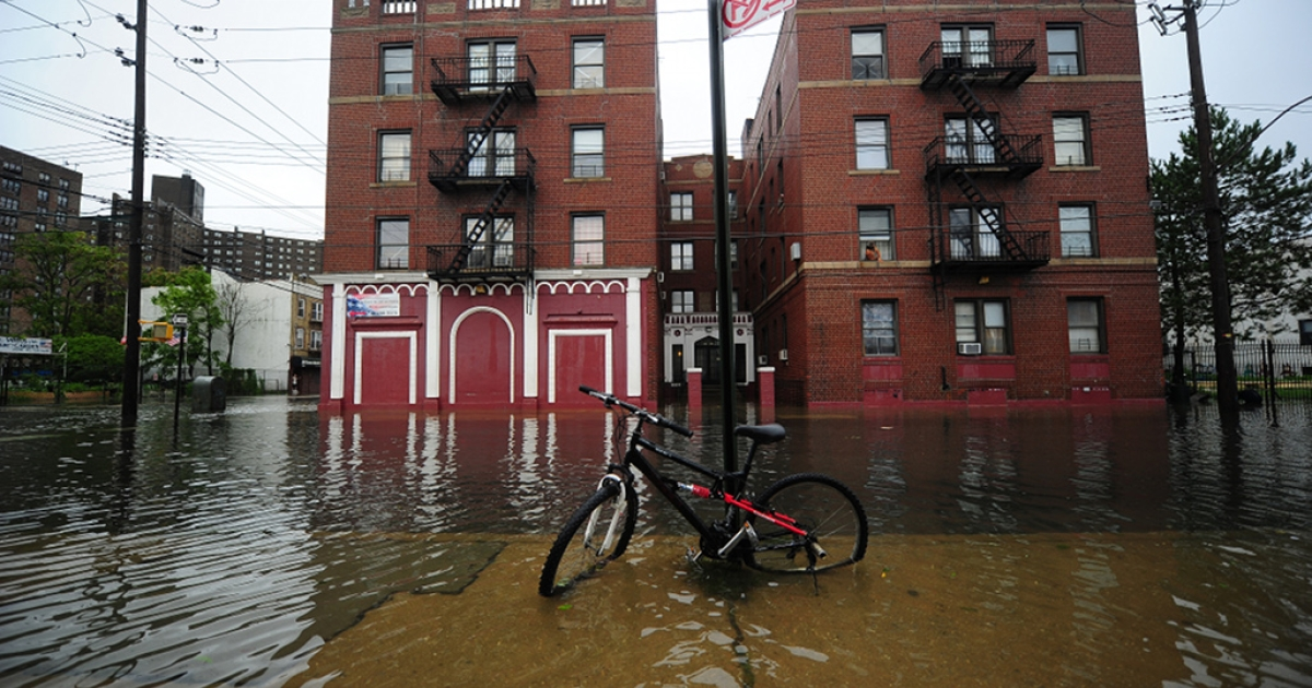 A street is flooded on Coney Island after Hurricane Irene hit, in New York, August 28, 2011. Irene weakened to tropical storm status Sunday as it hit New York City, the National Hurricane Center said, but the still powerful storm was flooding parts of lower Manhattan.</p>