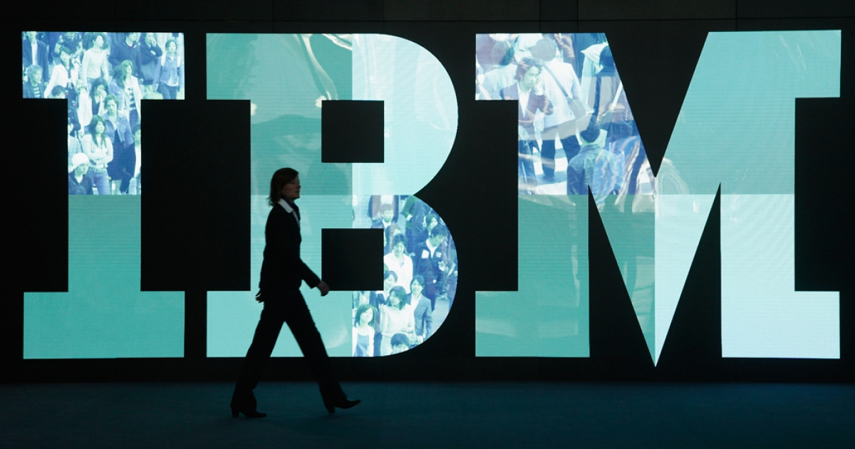 IBM  (Photo by Sean Gallup/Getty Images)</p>