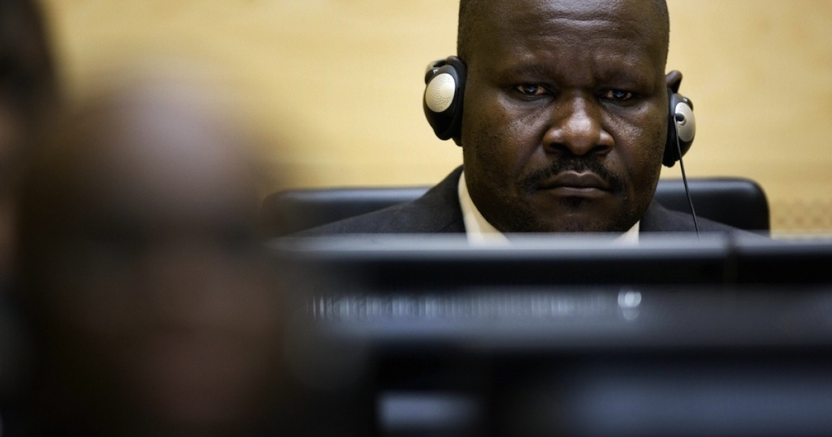 Congolese Mathieu Ngudjolo, 37, is seen at the International Criminal Court in The Hague, on Februrary 11, 2008. Ngudjolo, an army colonel and former rebel leader has been acquitted of charges that he lead a 2003 attack on a village in the country's lawless east that left 200 civilians dead, the International Criminal Court announced.</p>