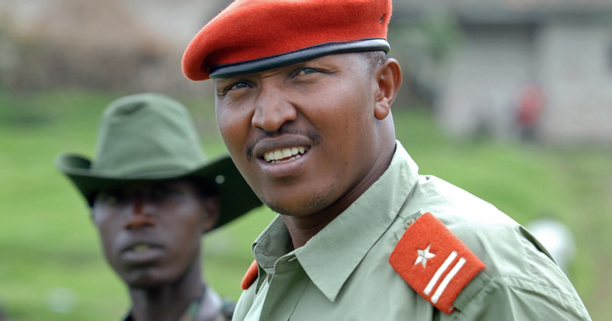 A picture taken on January 11, 2009 shows rebel leader and war crimes suspect Bosco Ntaganda. The International Criminal Court took him into custody on March 22, 2013.</p>