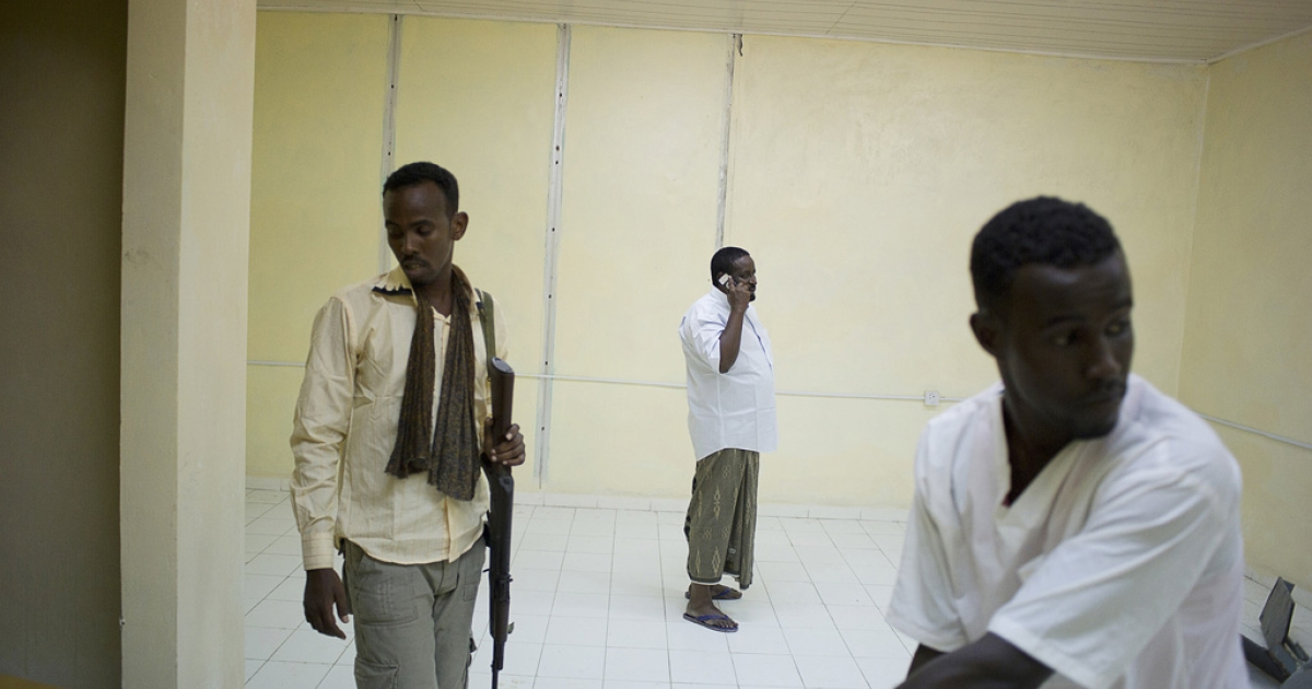 After being attacked, Mohammed Yusuf, director of the Medina Hospital in Mogadishu, is now guarded 24 hours a day.</p>