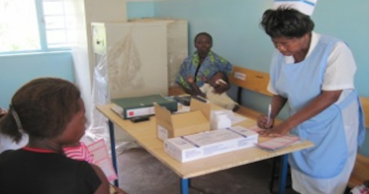 Clinics like this one in Zambia could be affected by the Global Health Initiative's new program.</p>