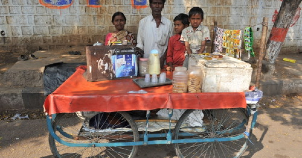 Poor Indians like these street vendors in Hyderabad may have to wait longer than expected to realize the Great Indian Dream, as most indicators hint that the world's second-fastest growing economy is slowing down.</p>