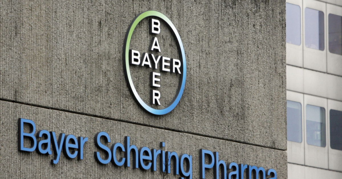 The headquarters of Bayer in Berlin, Germany. The Indian government authorized the generic version of a patented Bayer cancer medication on March 12, 2012, allowing for a cheaper drug.</p>