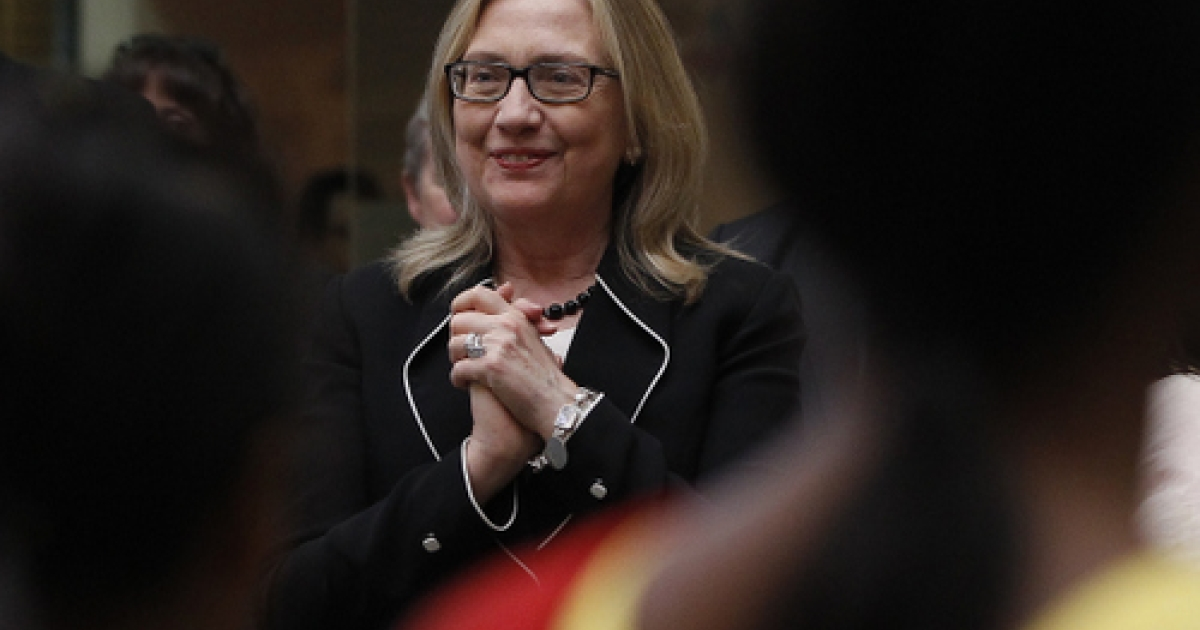 U.S. Secretary of State Hillary Clinton watches a performance during an Anti-Human Trafficking event  in Kolkata May 6, 2012.  Clinton landed in India with hopes of reinvigorating a relationship seen as losing steam despite efforts to bring the world's two largest democracies closer.</p>