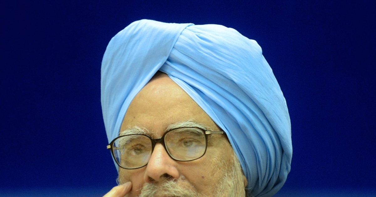 Indian Prime Minister Manmohan Singh, also President of the Council of Scientific and Industrial Research (CSIR), attends the CSIR conference in New Delhi on September 26, 2012.</p>