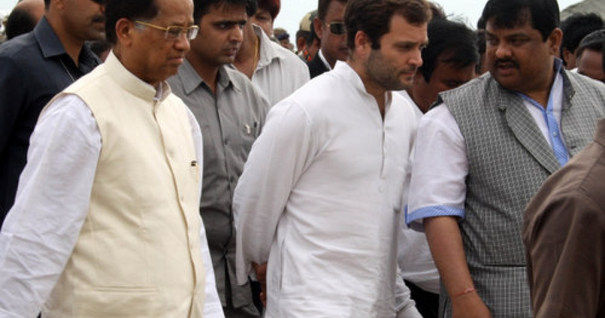 Rahul Gandhi, the All India Congress Committee General Secretary, meets victims of a ferry boat tragedy in Assam earlier this month. As the Congress-led United Progressive Alliance marks the third year of its second term Monday, a new survey shows voters would prefer the Gandhi family scion to step up and run for prime minister in 2014.</p>