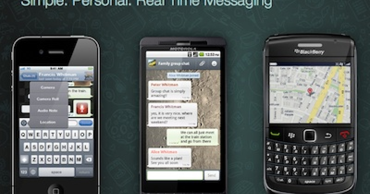 The Web site for WhatsApp, a popular messaging program for smart phones.</p>