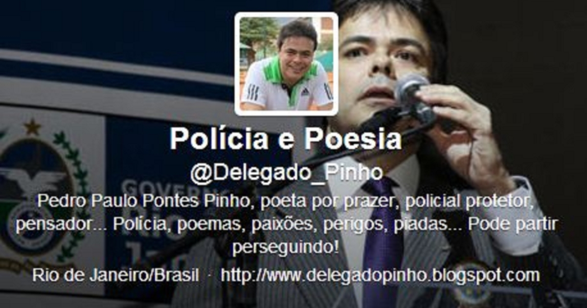Inspector Pedro Paulo Pontes Pinho's Twitter account, where he criticized female officers.</p>