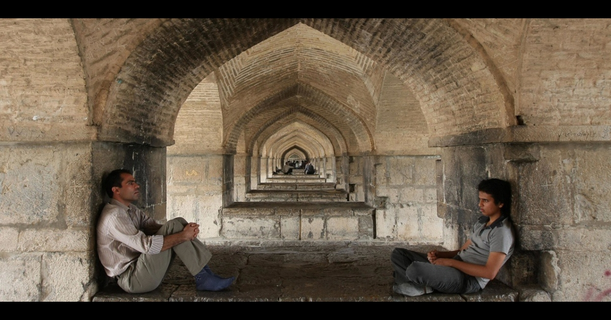 Iranians rest under a bridge in Isfahan, Iran. Residents of Israel and Iran are increasingly reaching out to each other on Facebook and other social media sites to declare their friendship and opposition to war.</p>