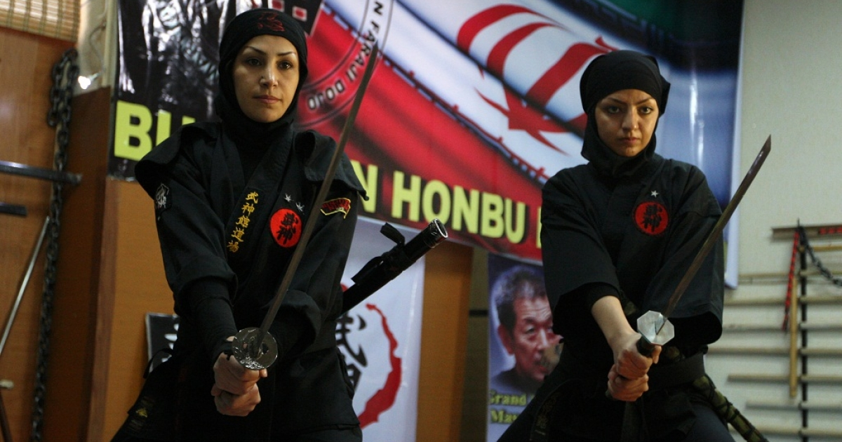 Martial arts has become popular among Iranian women in recent years as more than 3,000 women train in Ninjutsu in private clubs under the supervision of the Islamic republic's Martial Arts Federation.</p>