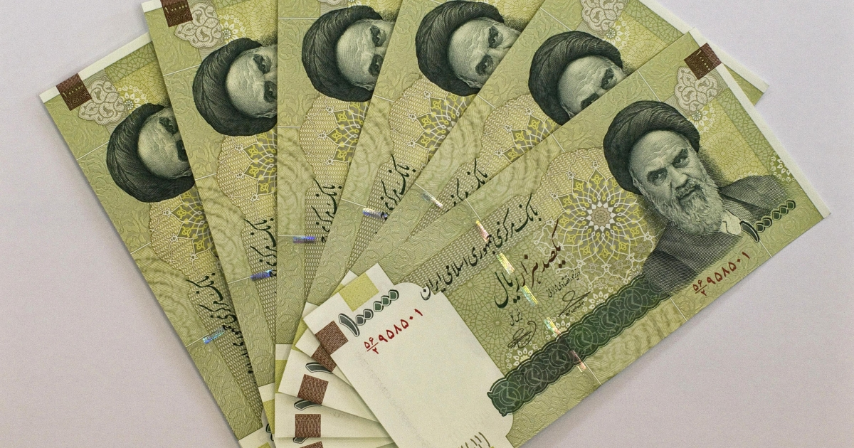 Iran's biggest denomination of currency, 100,000 Rials, as displayed in Tehran. Iran's currency has devalued sharply in recent months. One US dollar today equals around 30,000 rials, according to a November 8, 2012 Reuters report.</p>