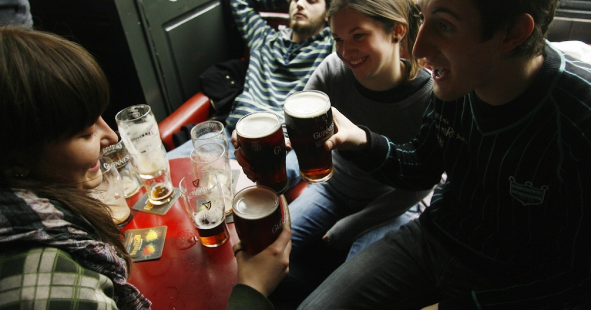 Should these St Patrick's Day revellers in Dublin be allowed to drive home?</p>