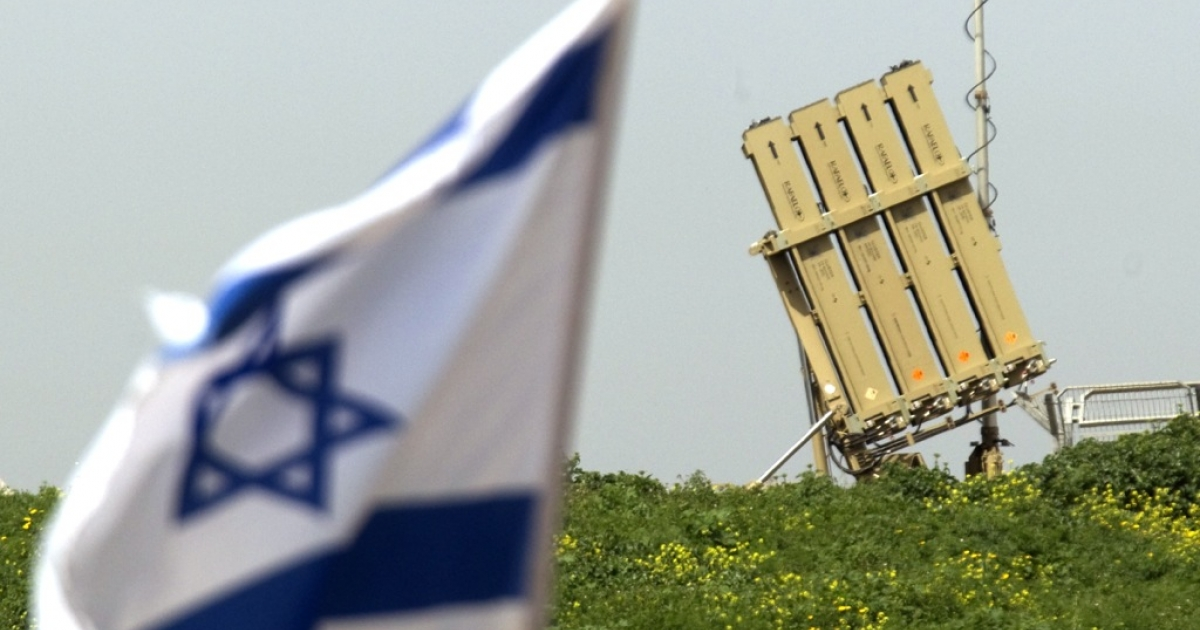 An Iron Dome short-range missile defence system is pictured in the Israeli city of Ashdod on March 11, 2012.</p>