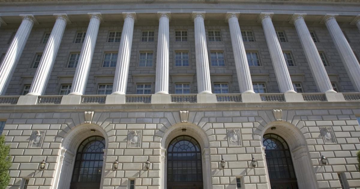 The US Internal Revenue Service building in Washington, DC.</p>