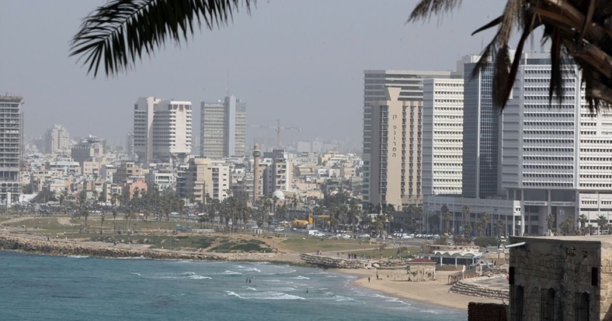 A view of Tel Aviv from the ancient port city of Jaffa on Feb. 19, 2010.</p>