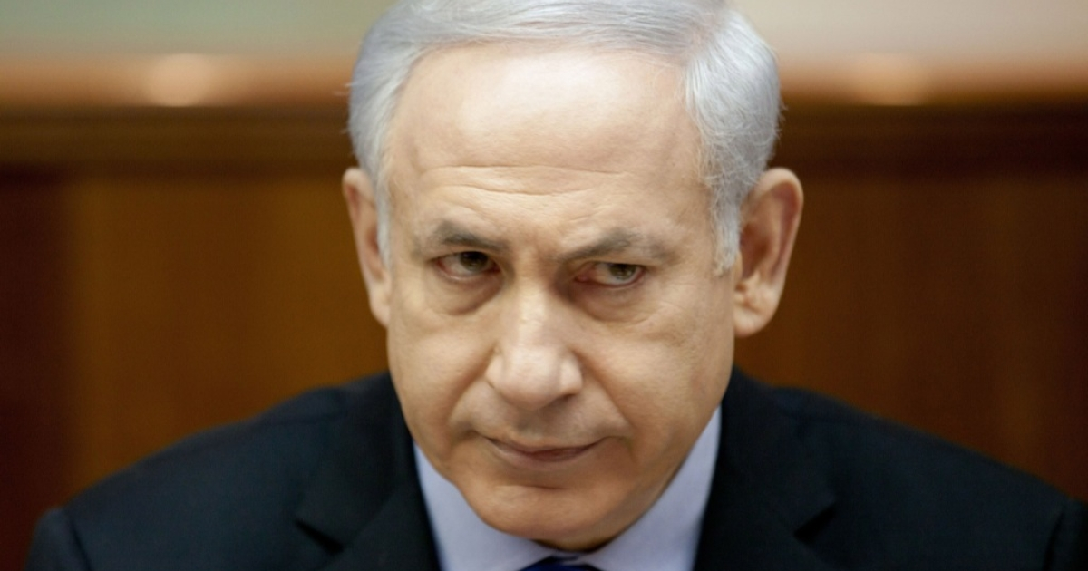 Israeli Prime Minister Benjamin Netanyahu looks on during the weekly cabinet meeting in his offices on Dec. 25, 2011 in Jerusalem, Israel. Netanyahu has so far not commented on the sex scandal of his Chief of Staff Natan Eshel.</p>