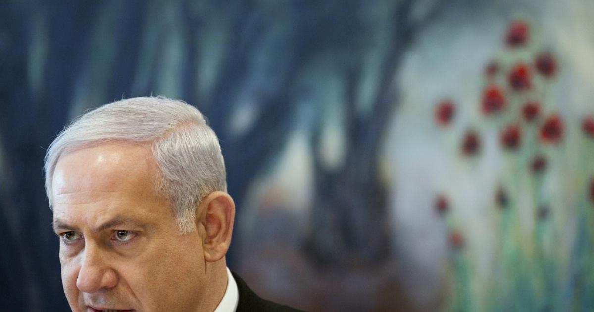 Israeli Prime Minister Benjamin Netanyahu speaks at a special cabinet meeting in Jerusalem.</p>