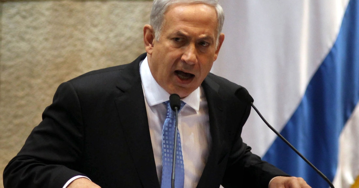 Israeli Prime Minister Benjamin Netanyahu addresses the opening of the winter session of the Israeli parliament, or Knesset, on October 31, 2011 in Jerusalem.</p>