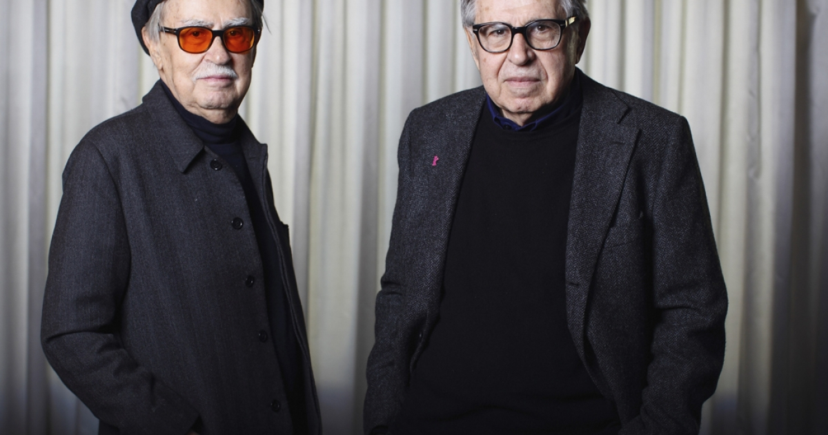Italian directors Vittorio Taviani (left) and his younger brother Paolo Taviani attend