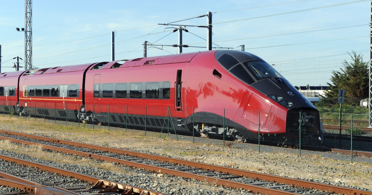 A high speed train in Italy, pictured in 2010.</p>