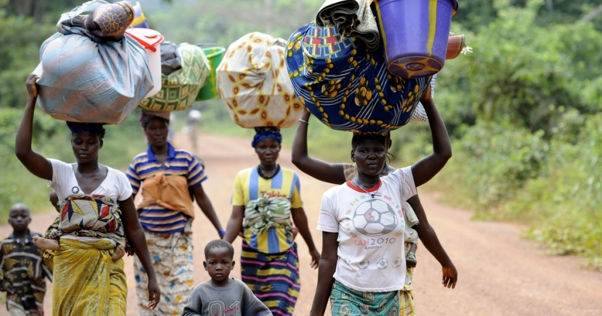 People displaced by the post-election violence in Ivory Coast. Eight months after the violence ended, many are still afraid to return to their homes.</p>