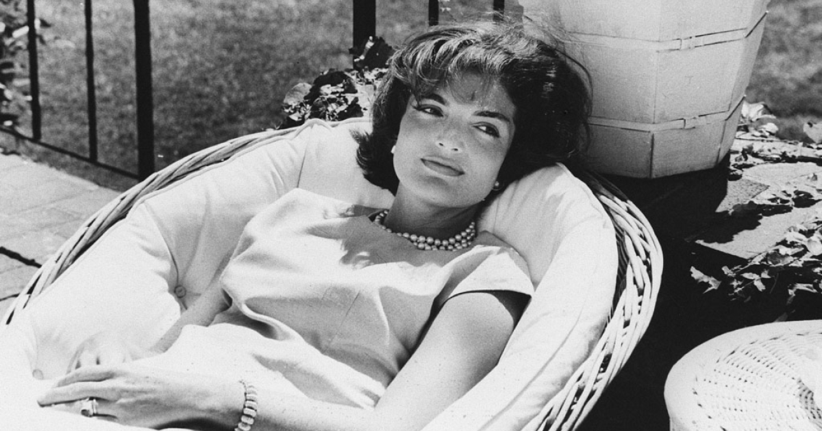 U.S. First Lady Jacqueline Kennedy relaxing in a chair in December 1961, a few weeks after John F. Kennedy won the presidency.</p>