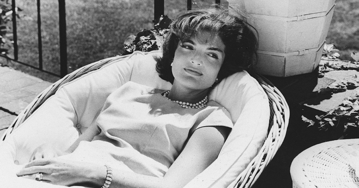 Picture dated December 1961 of U.S. First Lady Jacqueline Kennedy relaxing in a chair, a few weeks after her husband John F. Kennedy won the U.S. presidential election.</p>