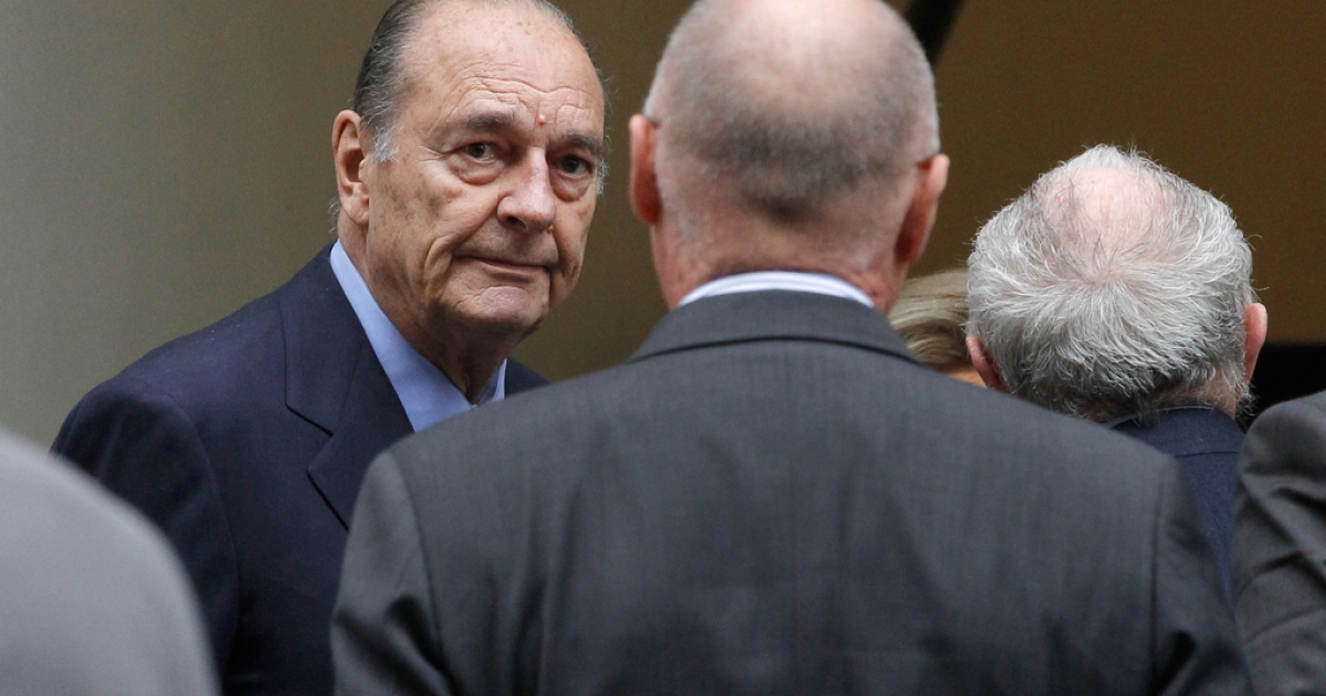 Former French President Jacques Chirac pictured in Paris, November 24, 2011.</p>