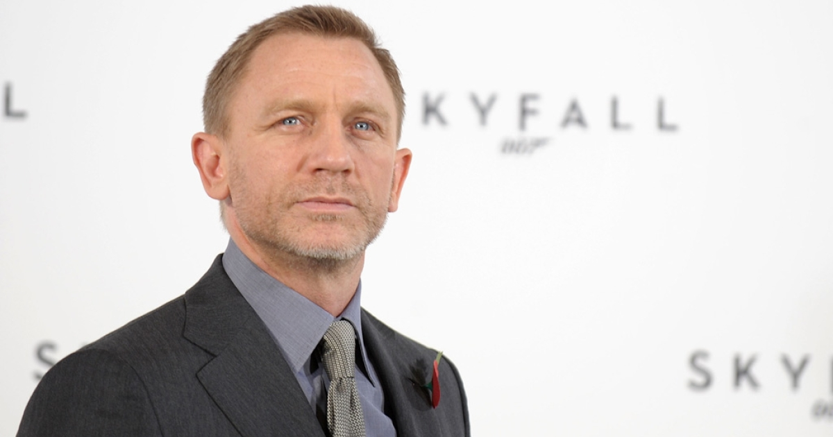 Daniel Craig attends a photocall with cast and filmmakers to mark the start of production on the 23rd Bond film