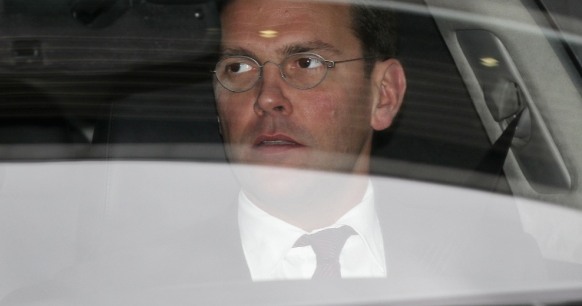 James Murdoch on a recent trip to London.</p>