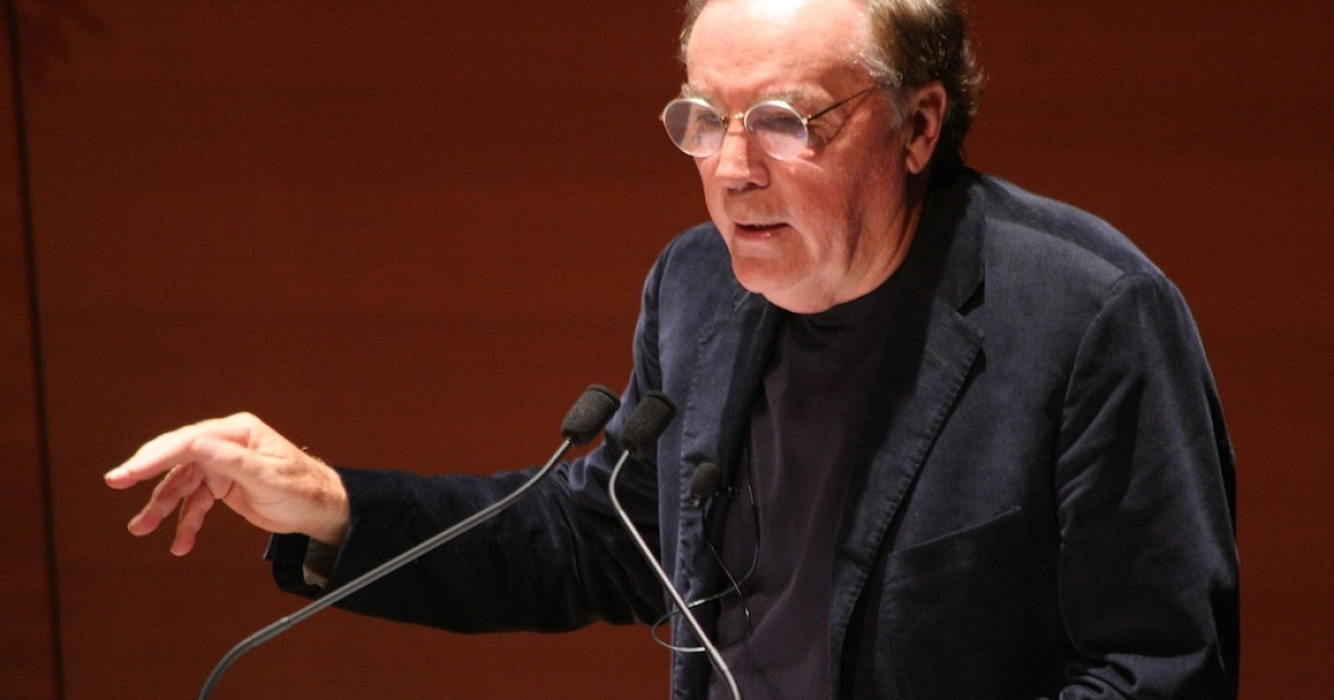 A picture of the best-selling author James Patterson speaking at Alice Tully Hall, Lincoln Center, on May 25, 2011, in New York City.</p>