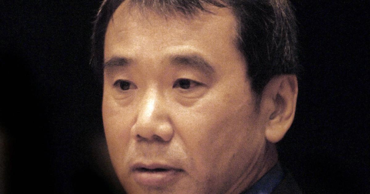 Japanese writer Haruki Murakami in Prague, where he received the 2006 Franz Kafka Award.</p>