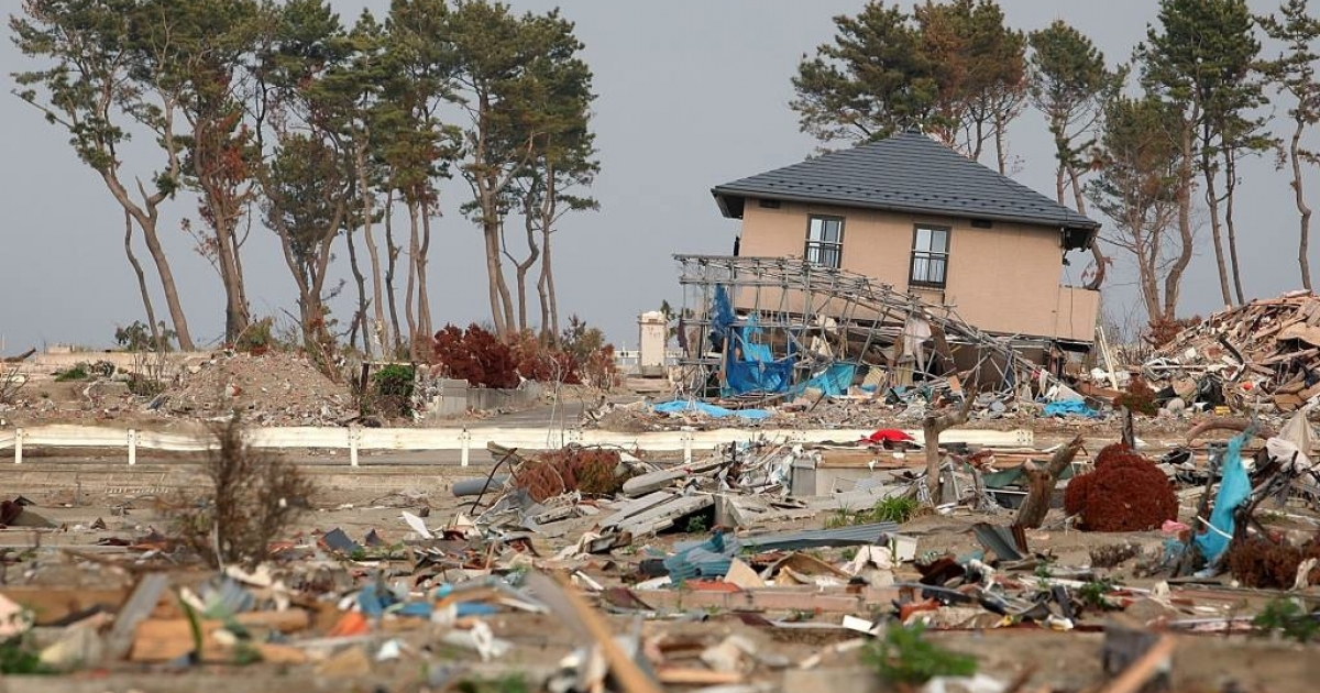 Destruction caused in the aftermath of the 9.0 magnitude earthquake of March 2011 and subsequent tsunami in Sendai, Miyagi, Japan. Another 6.7-magnitude earthquake hit Japan early Thursday June 23, 2011 in the northeast region.</p>