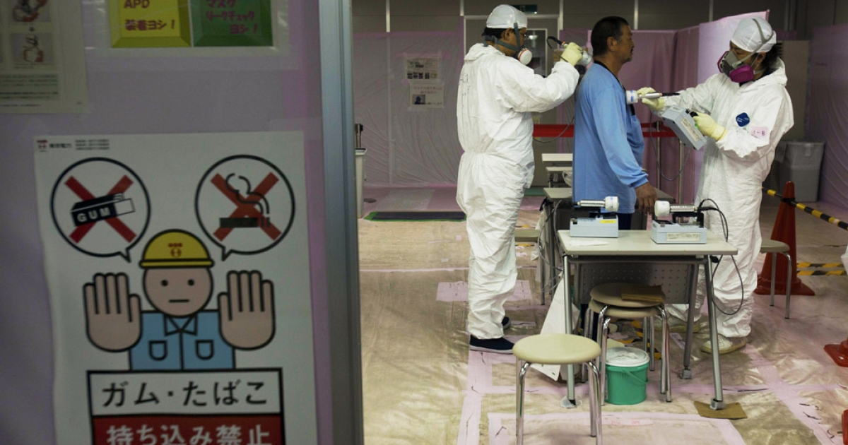 A workers is given a radiation screening as he enters the emergency operation center at Fukushima Dai-ichi nuclear power station in Japan. Japan ranked 23rd in a new study which looked at the safety of the 32 nations that possess nuclear materials.</p>