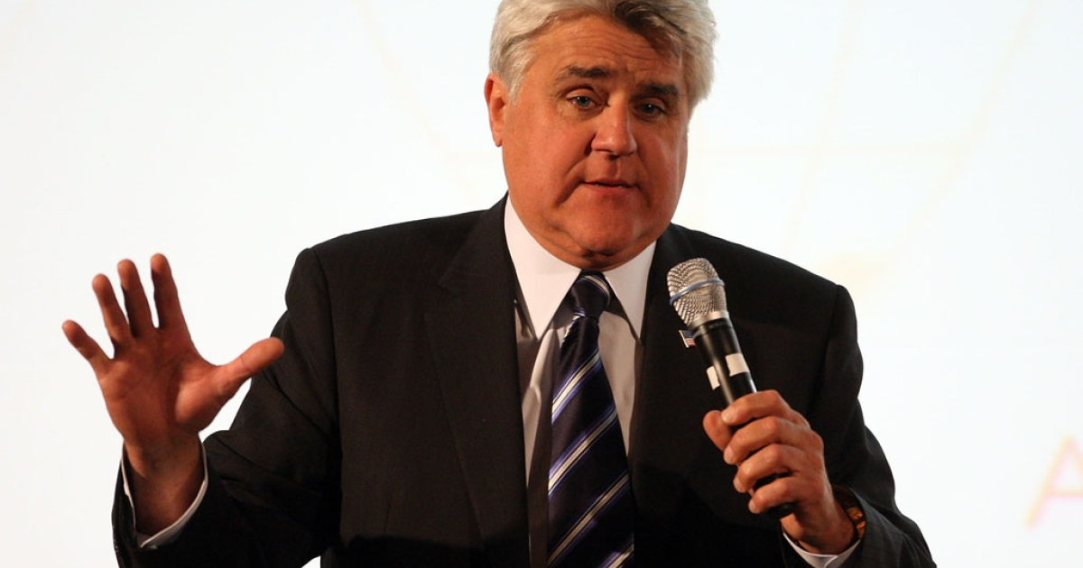 Television host Jay Leno at the Beverly Hills Hotel on April 29, 2009.</p>