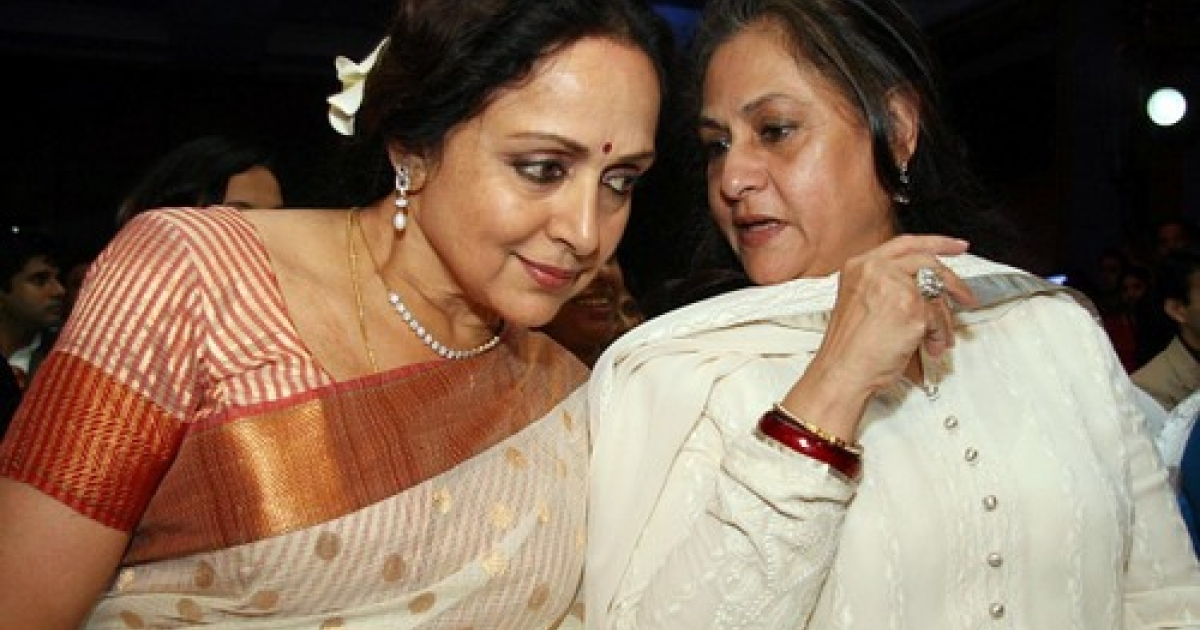 Shown here with fellow Rajya Sabha member (and one-time Bollywood star) Hema Malini, actress Jaya Bachchan was reportedly steamed that state-run television channel Doordarshan televised her reaction when Rekha (another well-preserved actress) was also inducted into India's version of the House of Lords. Later, the honorable members denied Bachchan ever lodged a complaint. But it did prompt a couple questions... Such as: Are Indians oversensitive? And what are so many ex pinups doing as legislators?</p>