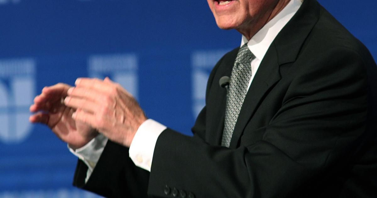 Jerry Brown addresses a question during a televised debate between Brown and California Republican gubernatorial candidate Meg Whitman at Fresno State University on Oct. 2, 2010, in Fresno, Calif. Brown signed the California Dream Act into law on Oct. 8, 2011, fulfilling a campaign promise to provide illegal immigrant students access to state financial aid for college.</p>