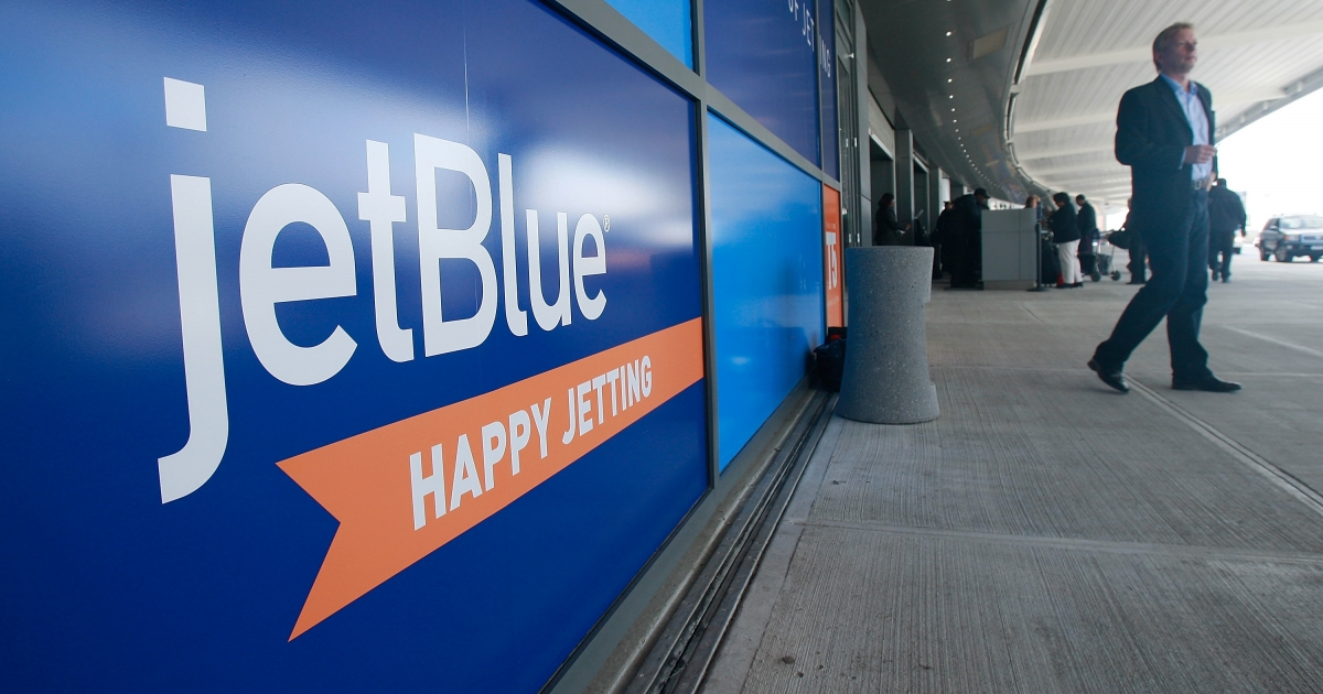 The JetBlue terminal at John F. Kennedy International Airport in the Queens borough of New York City.</p>
